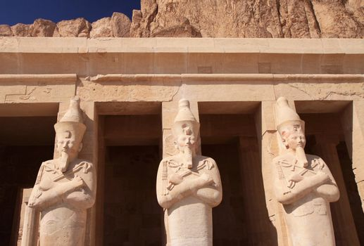 Stone statues in Egyptian temple