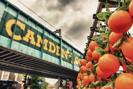 Famous Camden Market in London