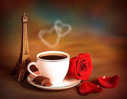 Coffe on Valentine day