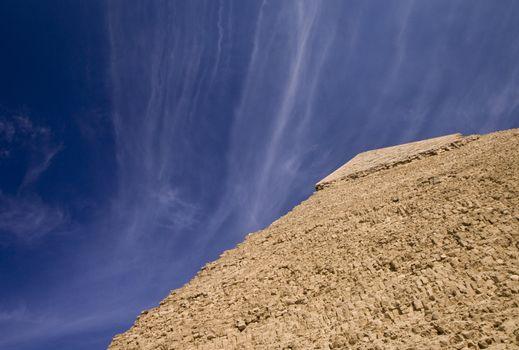 Top of Egyptian pyramid