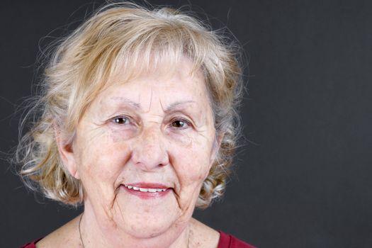 Candid portrait of senior woman