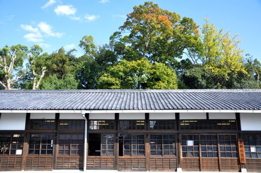 Ancient japanese architecture at Nijo castle
