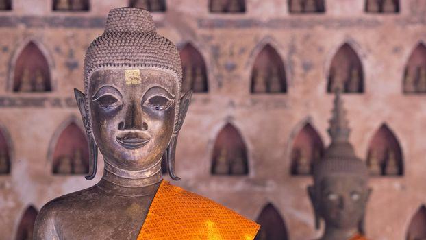 Buddha Image at Wat Si Saket in Vientiane, Laos