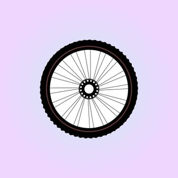 Bike wheel isolated on white background