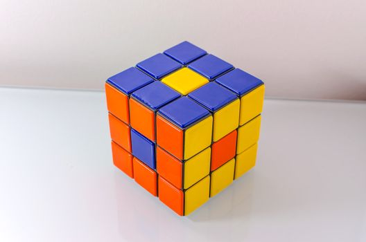 Creatively Solved Rubiks Cube, Problem Solving Concept