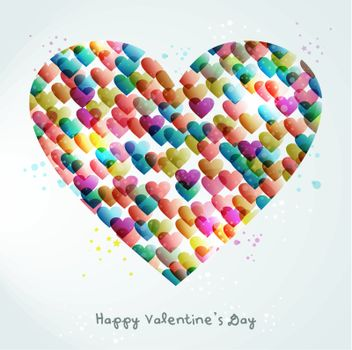 Valentine transparency heart love