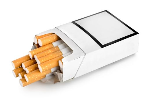 Open pack of cigarettes
