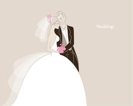 Vector illustration of Wedding