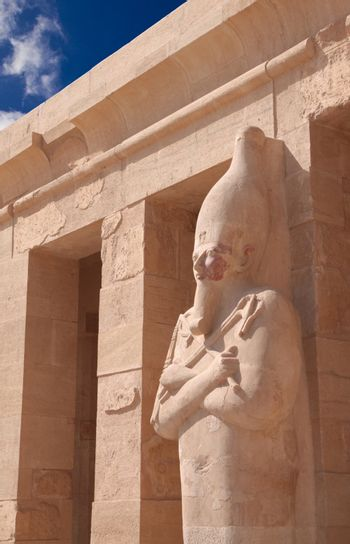 Stone statue in Egyptian temple