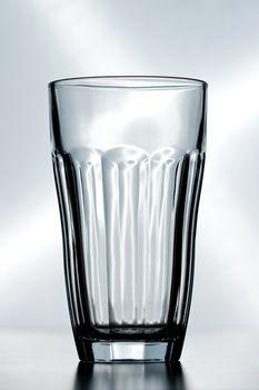 an empty crystal glass