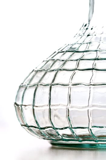 abstract crystal vase