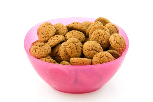 oink bowl with pepernoten (ginger nuts) sweets for typical Dutch festivity at 5 december