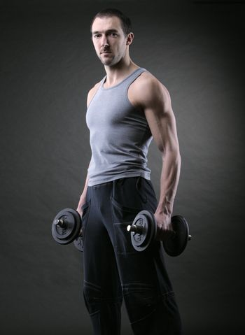 Muscular male athlete