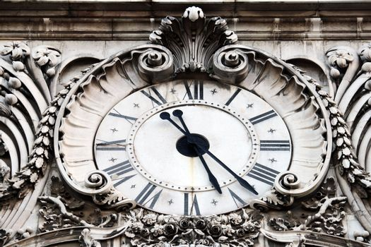Augusta street clock, Lisbon, Portugal