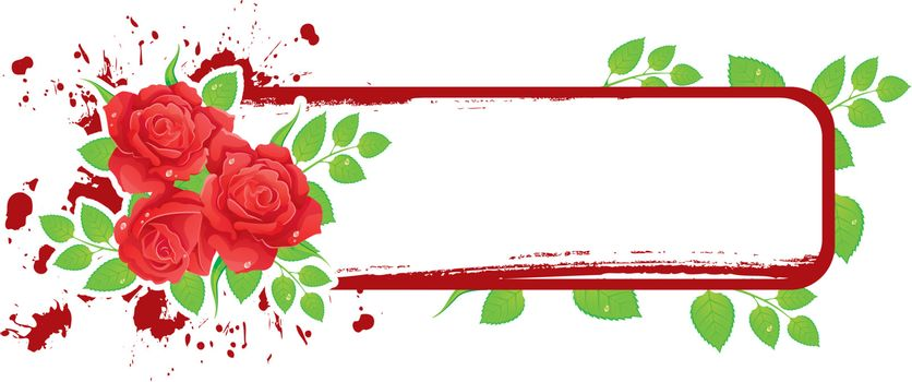Vector illustration of Background with beauty roses