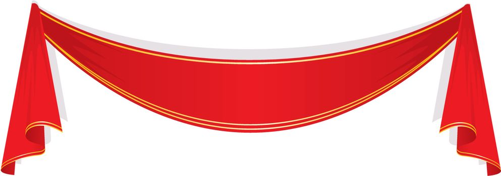 Vector illustration of Red ribbon
