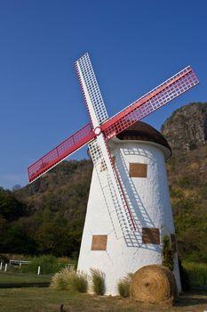 swiss sheep farm windmill at Cha-um Thailand