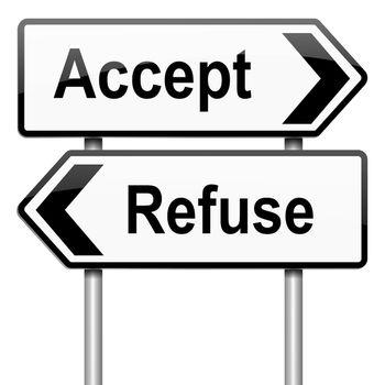 Accept or refuse concept.