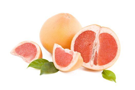 Red grapefruits parts