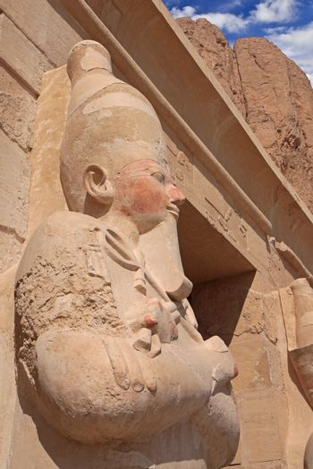 The Statue in Egyptian temple