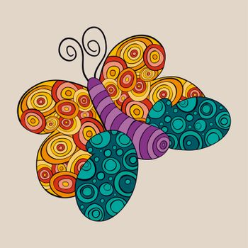 Vibrant spring butterfly