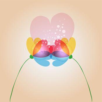 Love transparency flowers