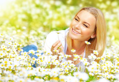 Girl on daisy glade