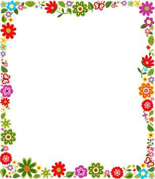 cute floral border pattern