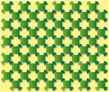 abstract puzzle background green