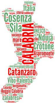 Italy regions tag cloud