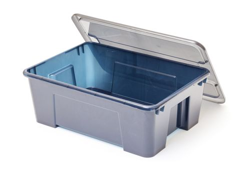 Empty Plastic Container with Lid