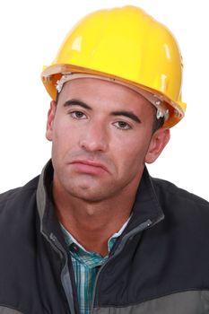 Grumpy manual worker