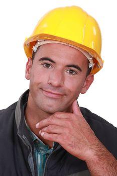 Portrait of a satisfied tradesman