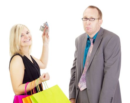 Two business people on a shopping tour