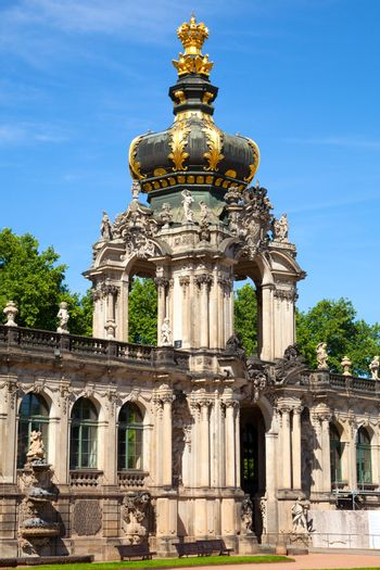 The Zwinger palace of Dresden. eastern Germany, built in Rococo