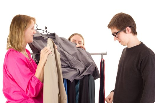 People on shopping tour