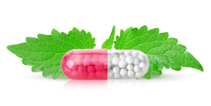 Tablet with mint leaves