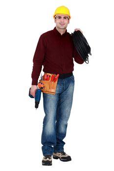 Full-length portrait of a tradesman