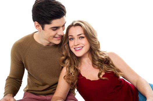 True bonding of lovely young attractive couple