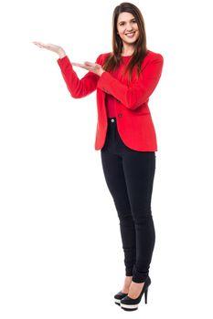 Elegant presentable woman posing