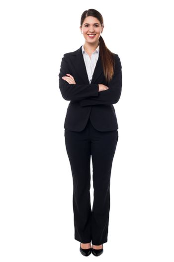 Cheerful young businesswoman