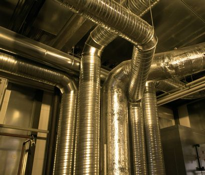 Ventilation pipes of industrial air condition