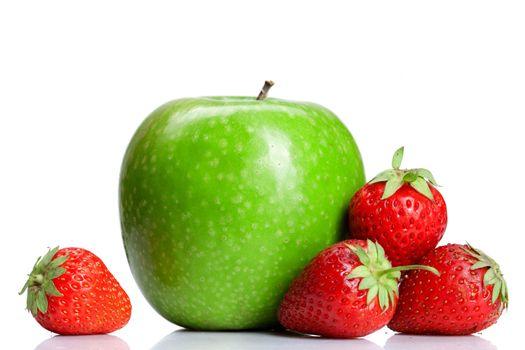 Summer fresh fruits isolated on white