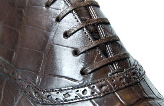 close up photo of mans shoe