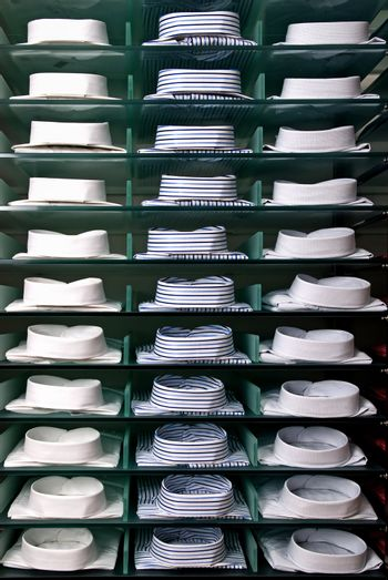 shelf with shirts in store