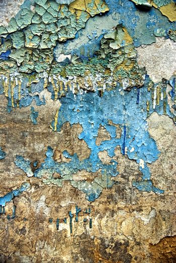 texture of the old grunge stucco wall with cracks