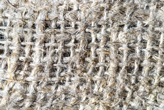 macro of burlap texture