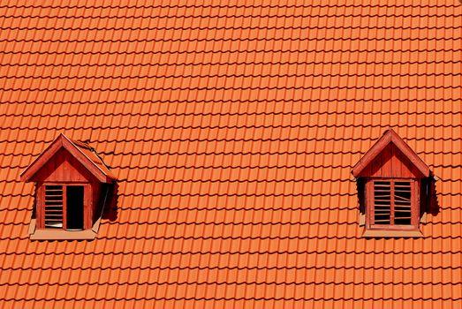 orange roof with window