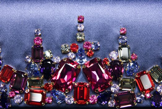 various color shiny gems