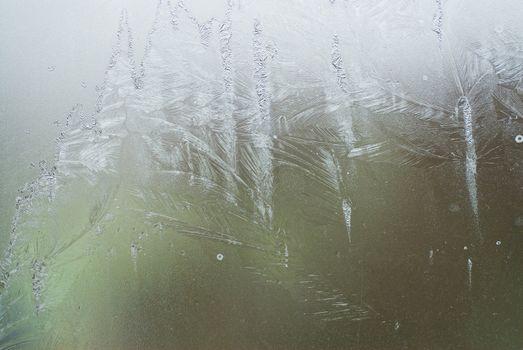 ice on a window